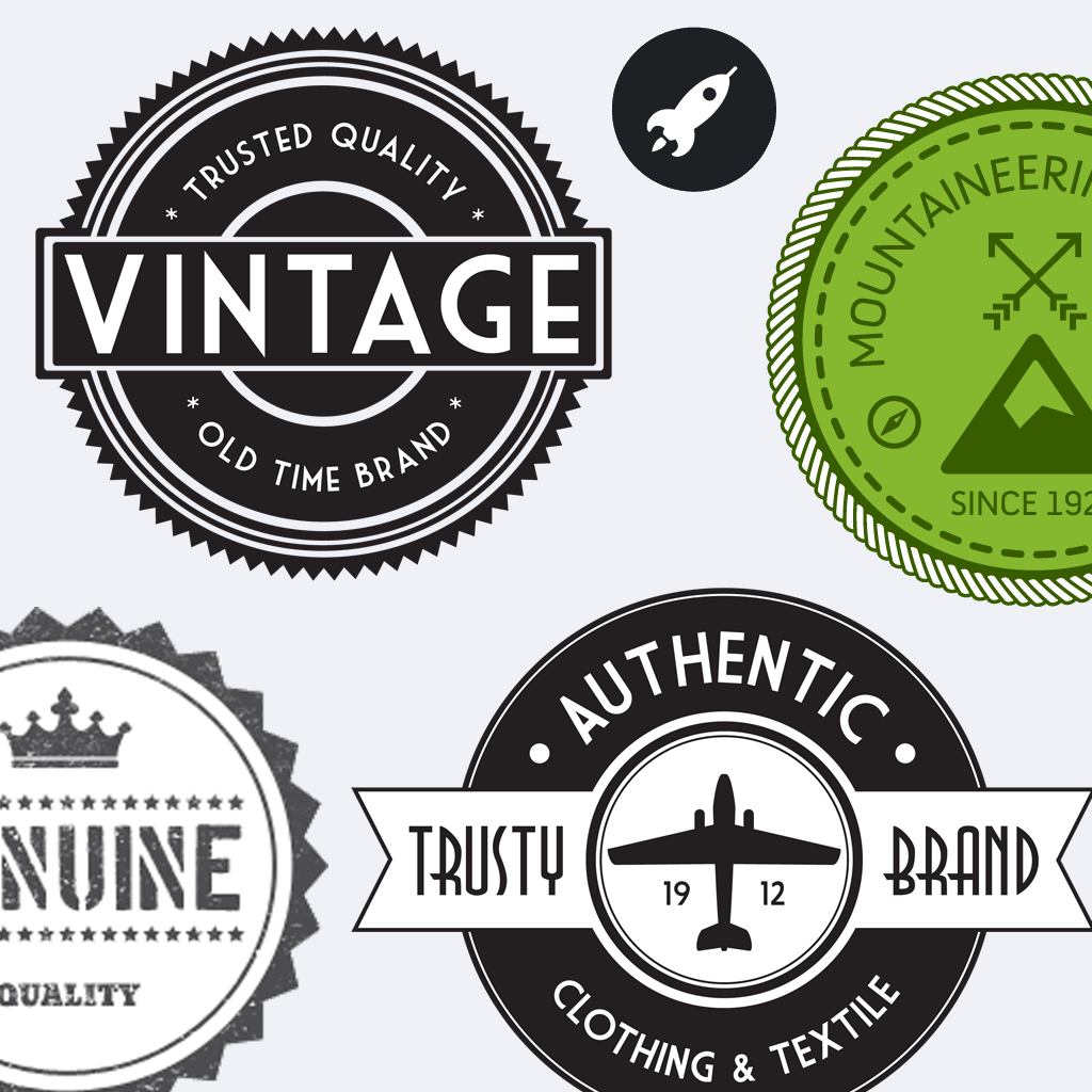 Vintage stickers hd beautiful retro badges labels and for Classic house labels